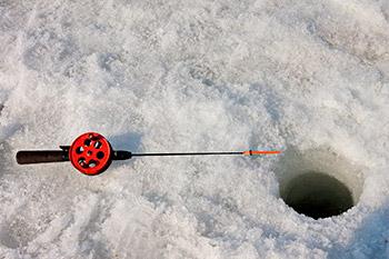 Pimpel fiskestang til isfiskeri